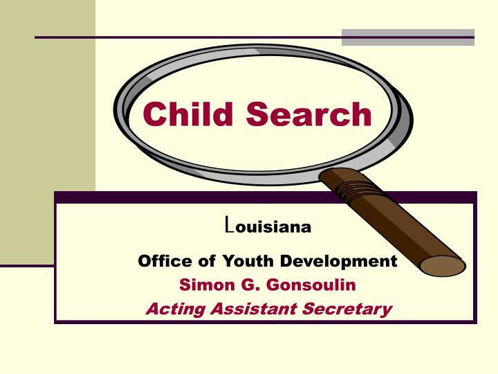 child search n.