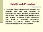 child search procedure1