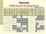current child search tracking form