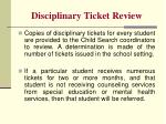 disciplinary ticket review