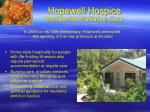 hopewell hospice residential palliative care