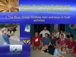 patrick boys group buddies and parents group facilitator kerrie