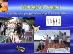 teenager s program