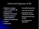 differential diagnosis of ad