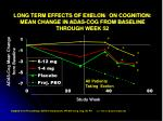 long term effects of exelon on cognition mean change in adas cog from baseline through week 52