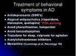 treatment of behavioral symptoms in ad