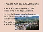 threats and human activities