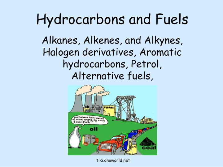 hydrocarbons and fuels n.