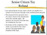 senior citizen tax refund