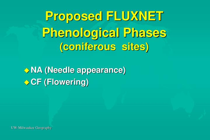 Proposed FLUXNET Phenological Phases