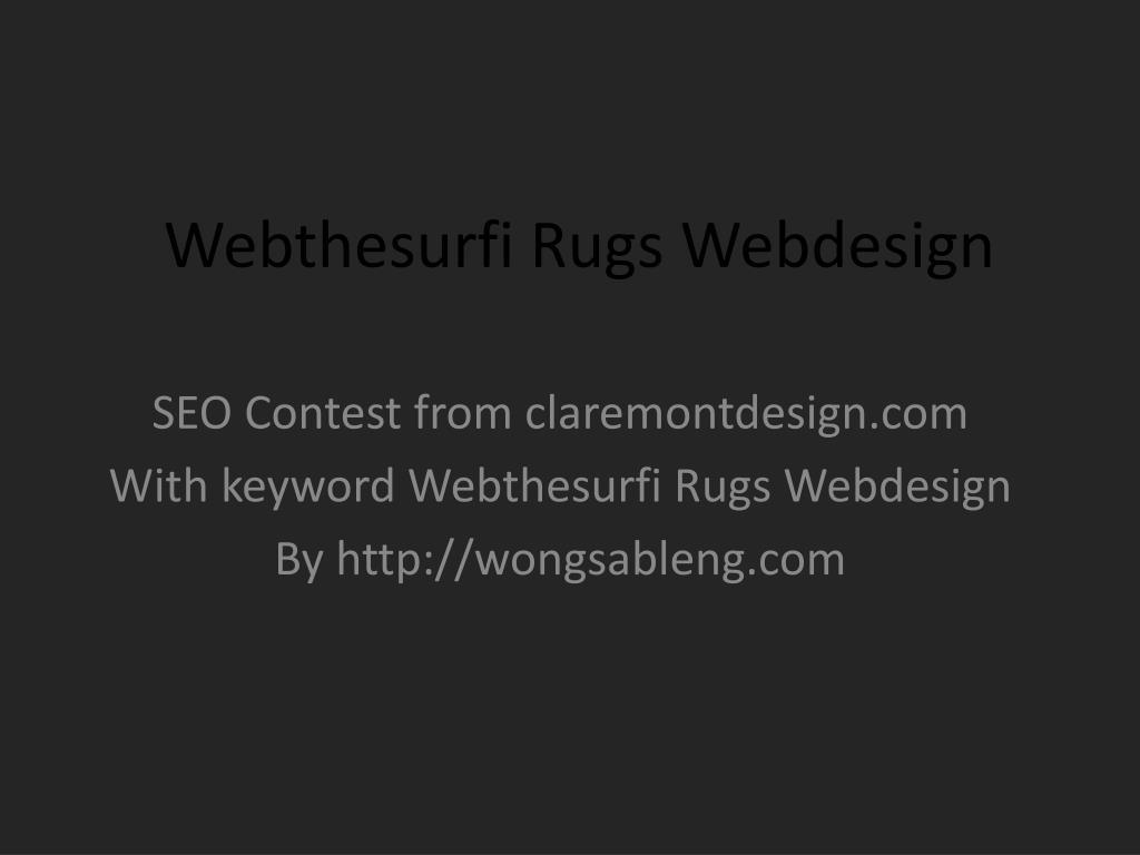 webthesurfi rugs webdesign l.
