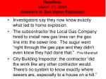 headline march 17 2006 answers in gas home explosion