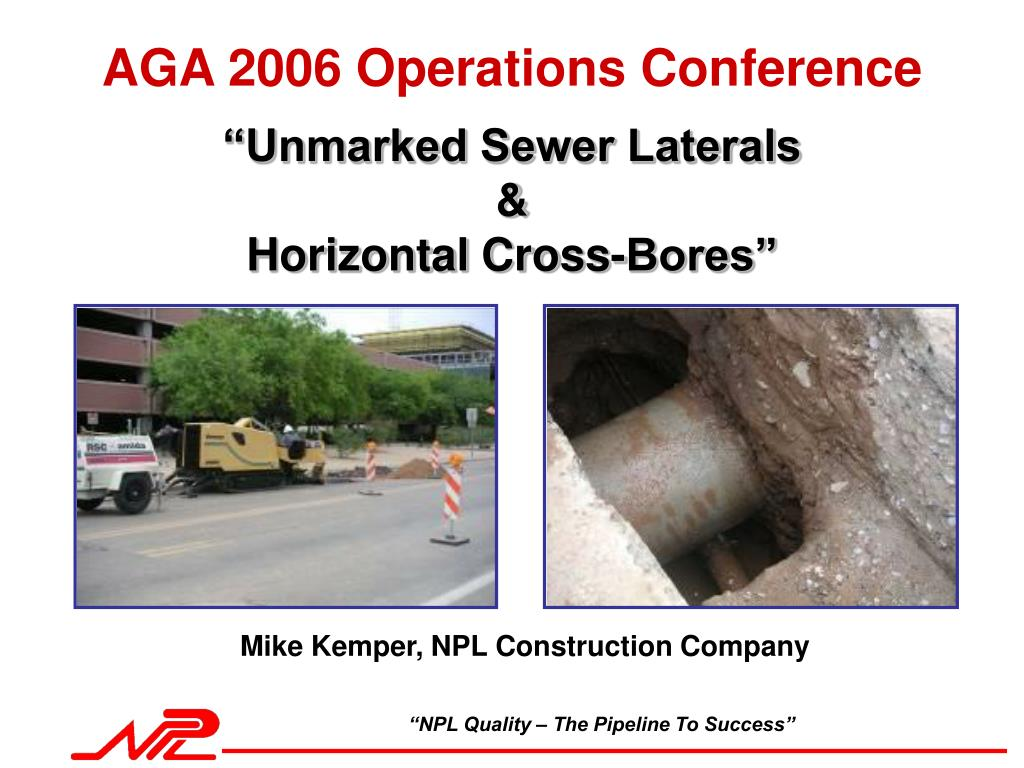 unmarked sewer laterals horizontal cross bores l.