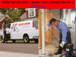 utility service line sewer line rotary rooter disaster