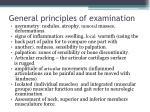 general principles of examination