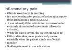 inflammatory pain