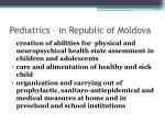 pediatrics in republic of moldova