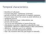 t emporal characteristics