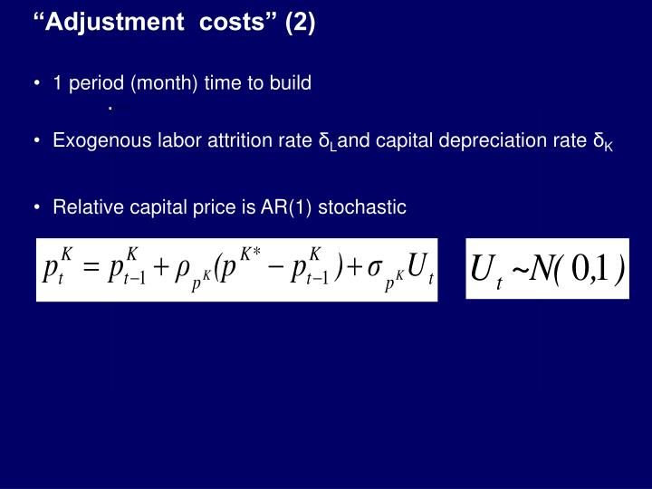 """Adjustment  costs"" (2)"