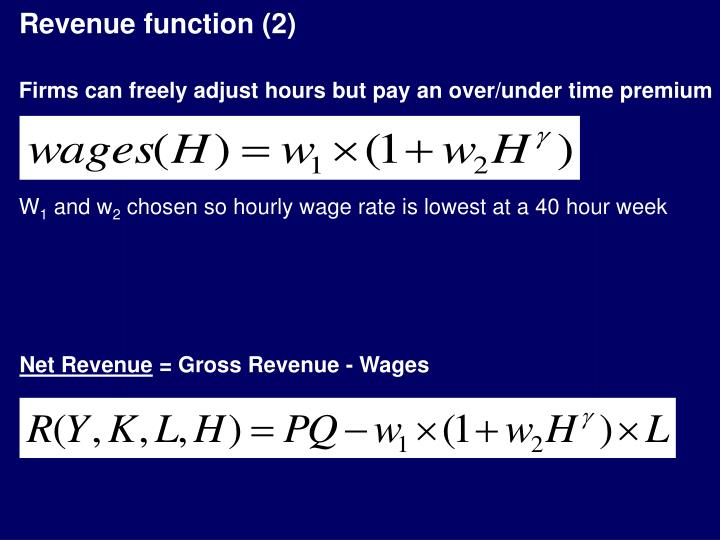 Revenue function (2)