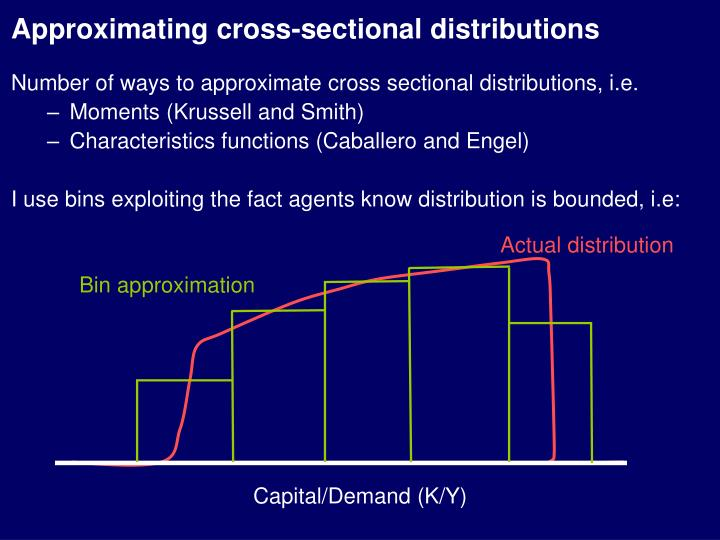 Approximating cross-sectional distributions
