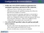 configuration recommendations