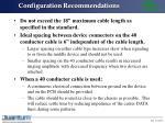 configuration recommendations20