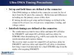 ultra dma timing precautions17