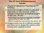 the ot god contemporary issues