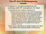 the ot god contemporary issues3