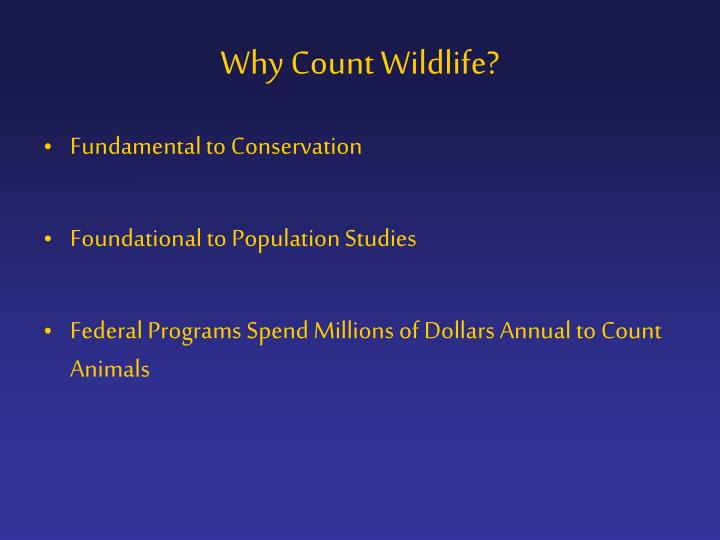Why count wildlife
