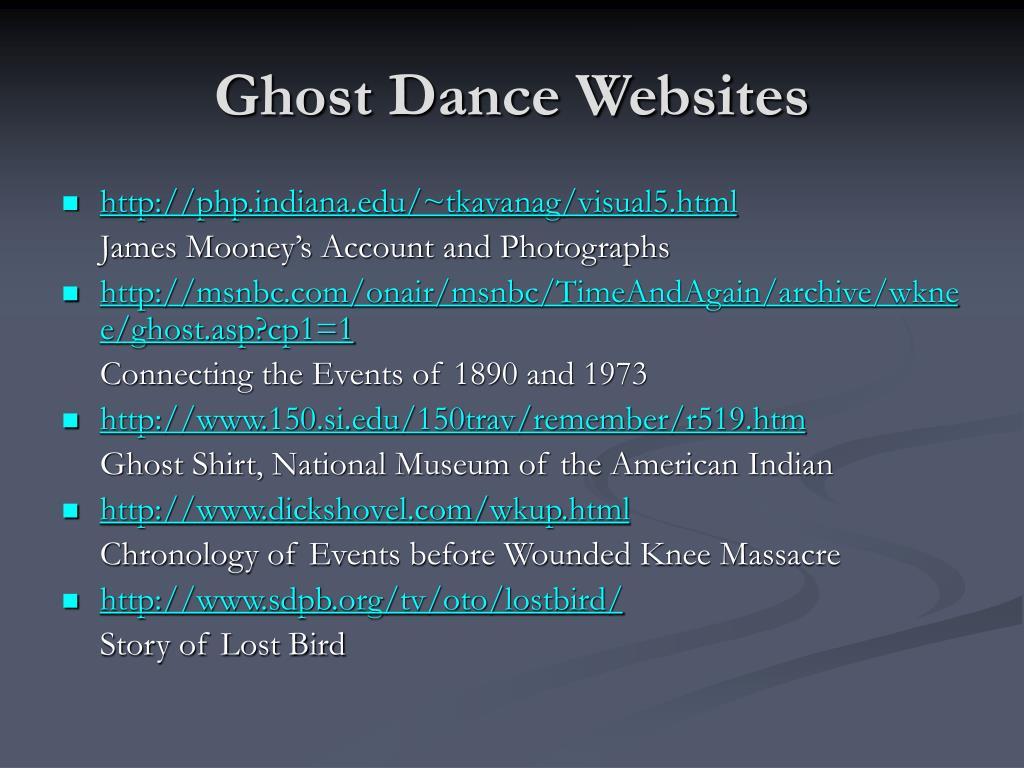 Ghost Dance Websites