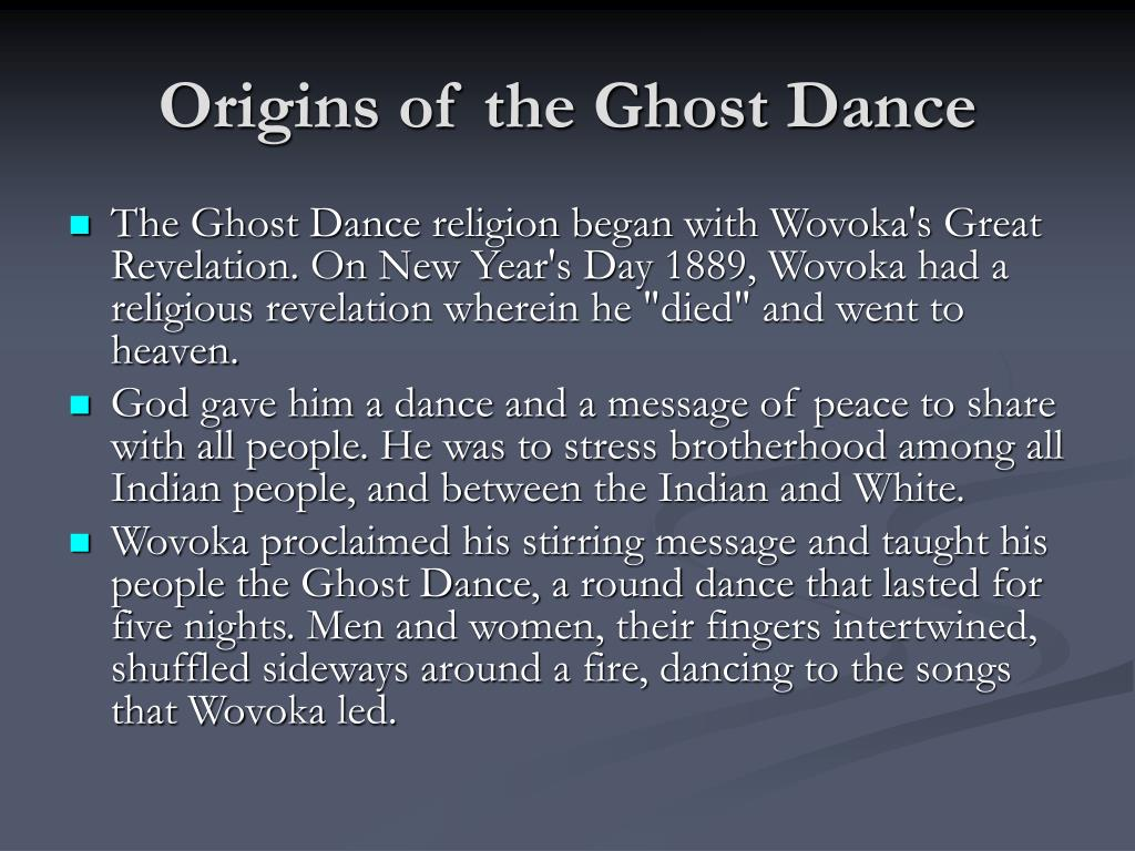 Origins of the Ghost Dance