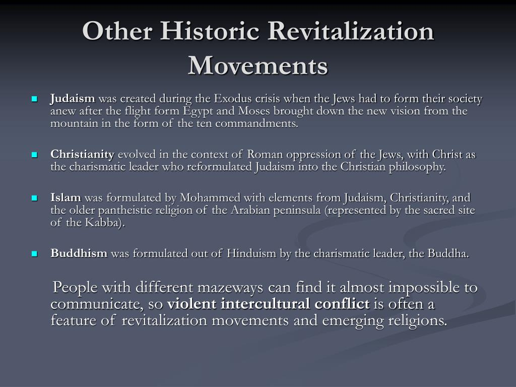Other Historic Revitalization Movements