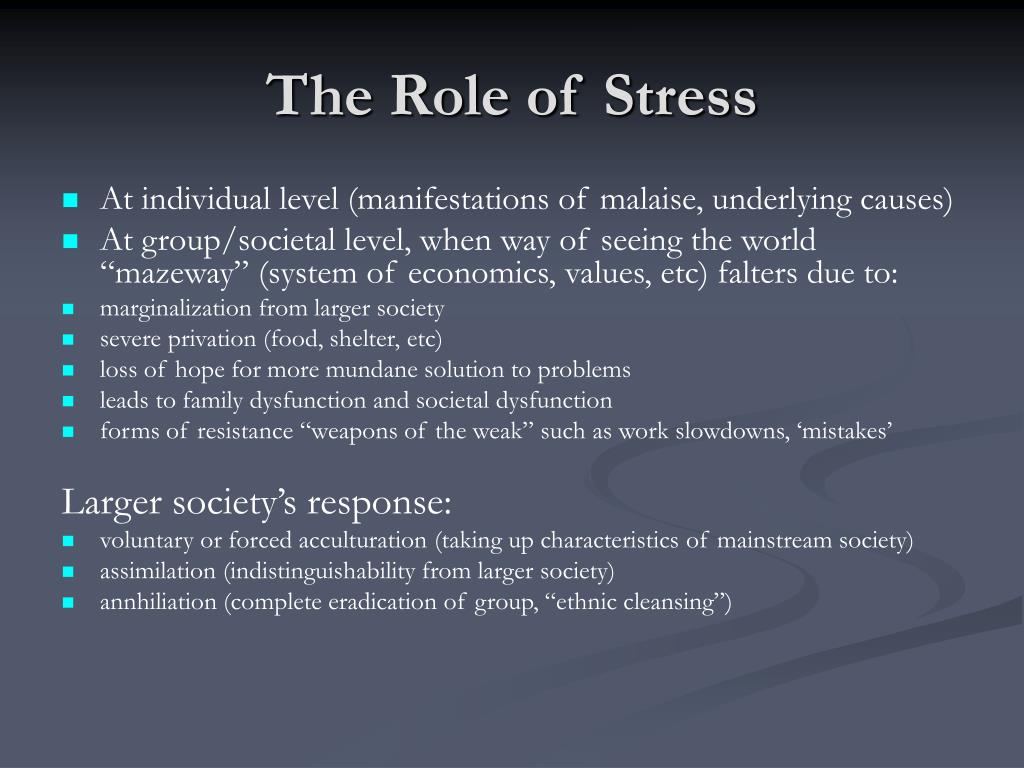 The Role of Stress