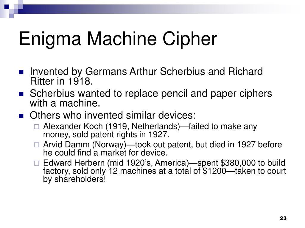 Enigma Machine Cipher