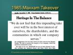 1985 maxxam takeover15