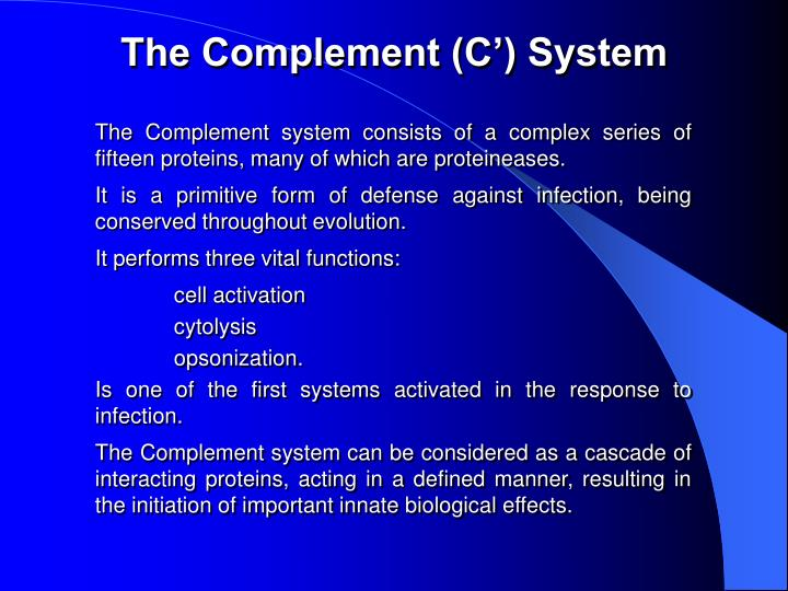 The Complement (C') System