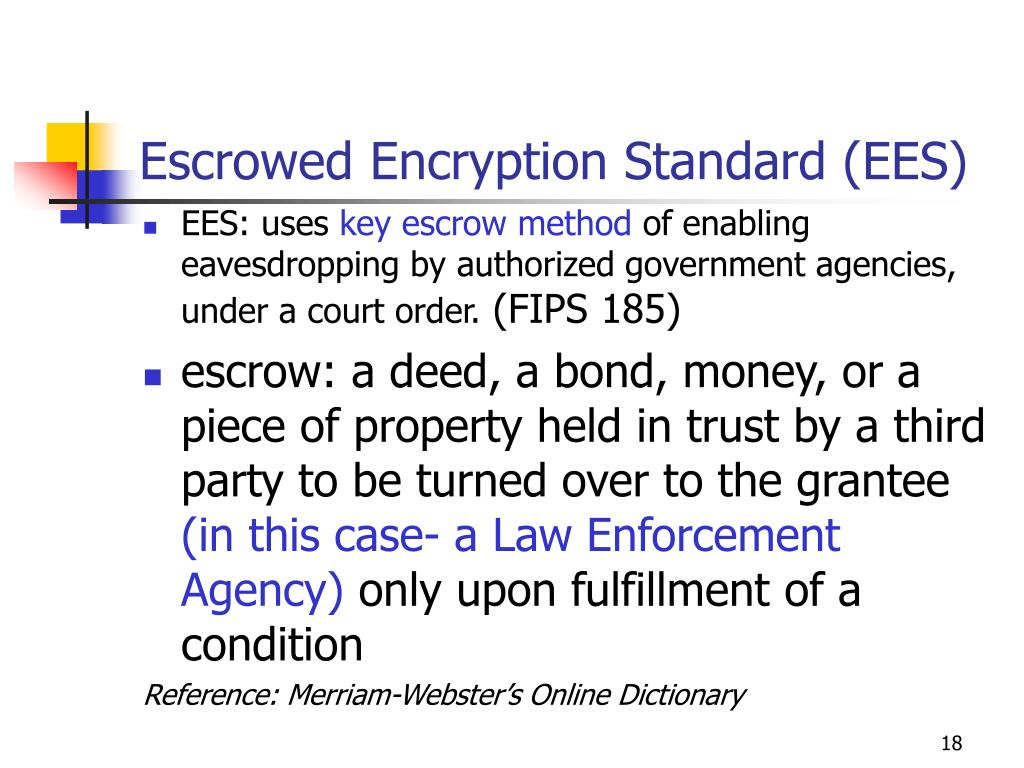 Escrowed Encryption Standard (EES)