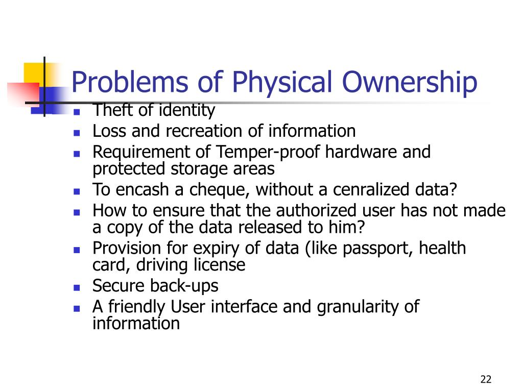 Problems of Physical Ownership