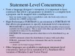 statement level concurrency