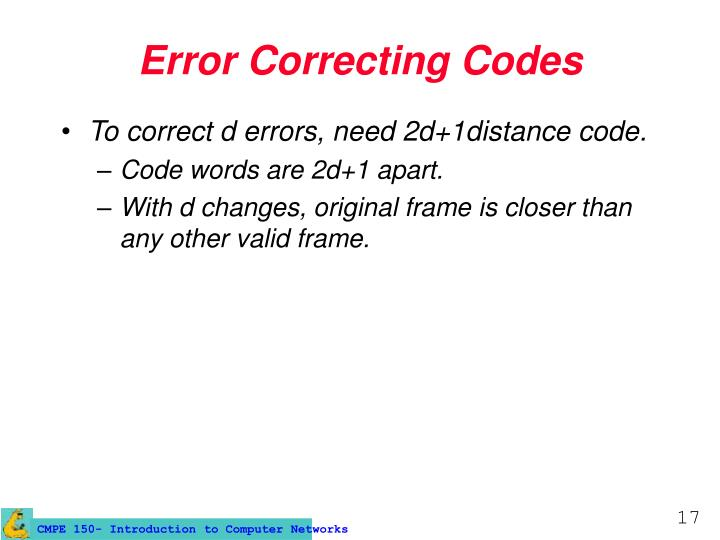 Error Correcting Codes