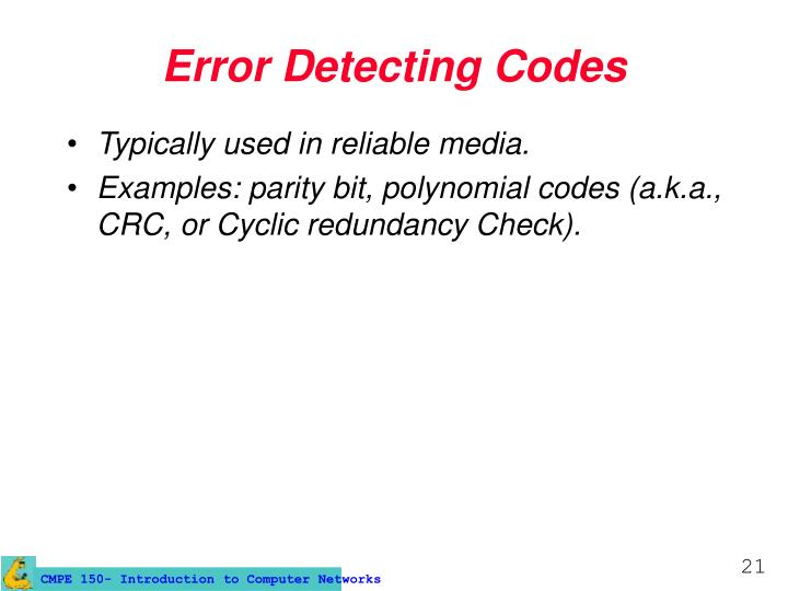 Error Detecting Codes
