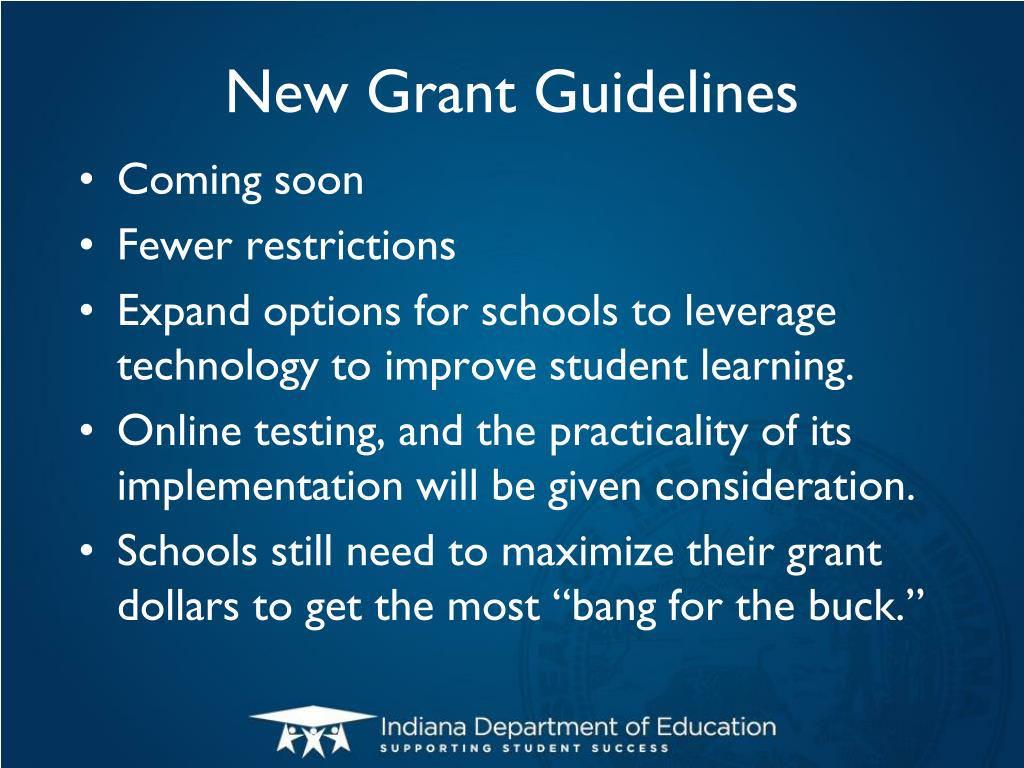 New Grant Guidelines