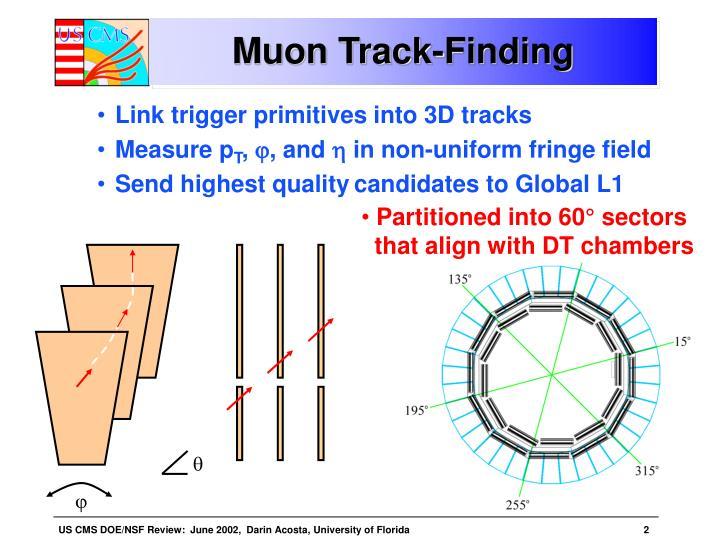 Muon track finding