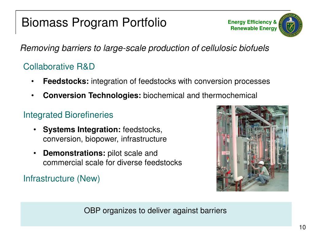 Biomass Program Portfolio