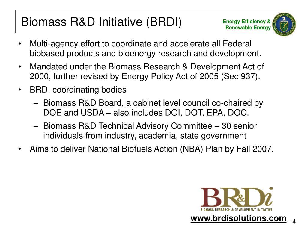 Biomass R&D Initiative (BRDI)