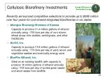 cellulosic biorefinery investments