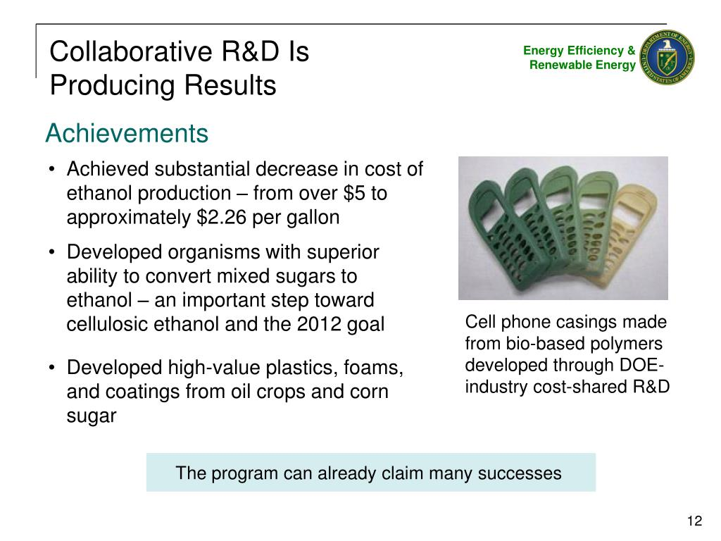 Collaborative R&D Is Producing Results