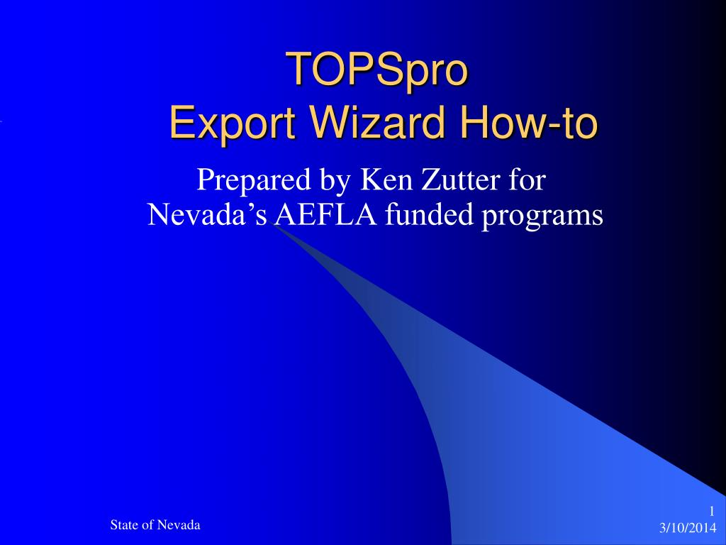 topspro export wizard how to l.